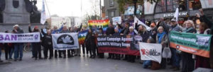 March to GPO Intern Conf against US Nato bases (1)