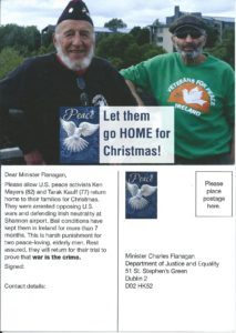 Let Them Go Home for Xmas US Vets